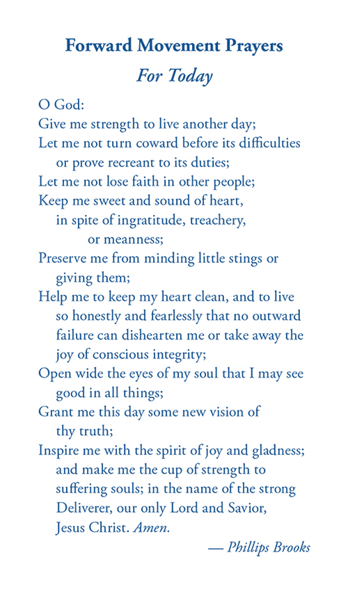 Forward Movement Prayers