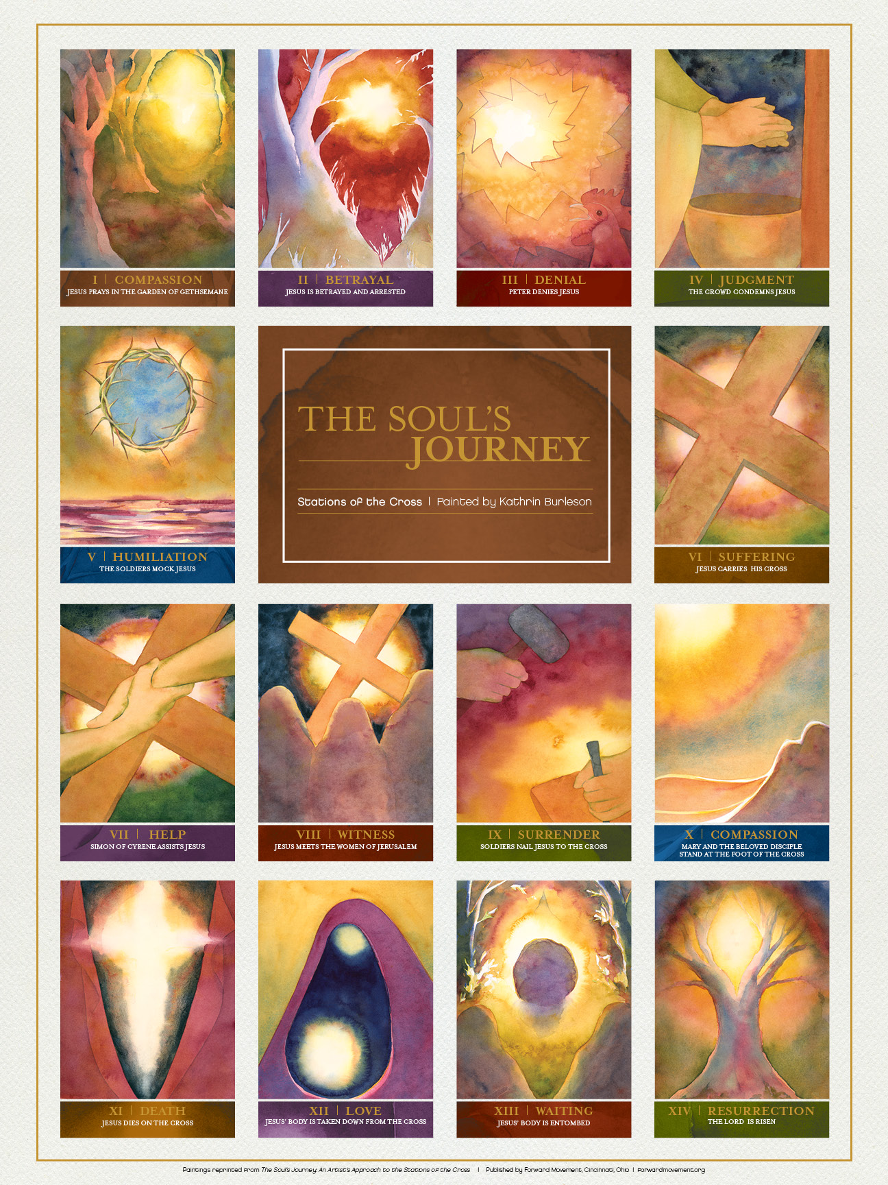 Soul's Journey Poster:Stations of the Cross