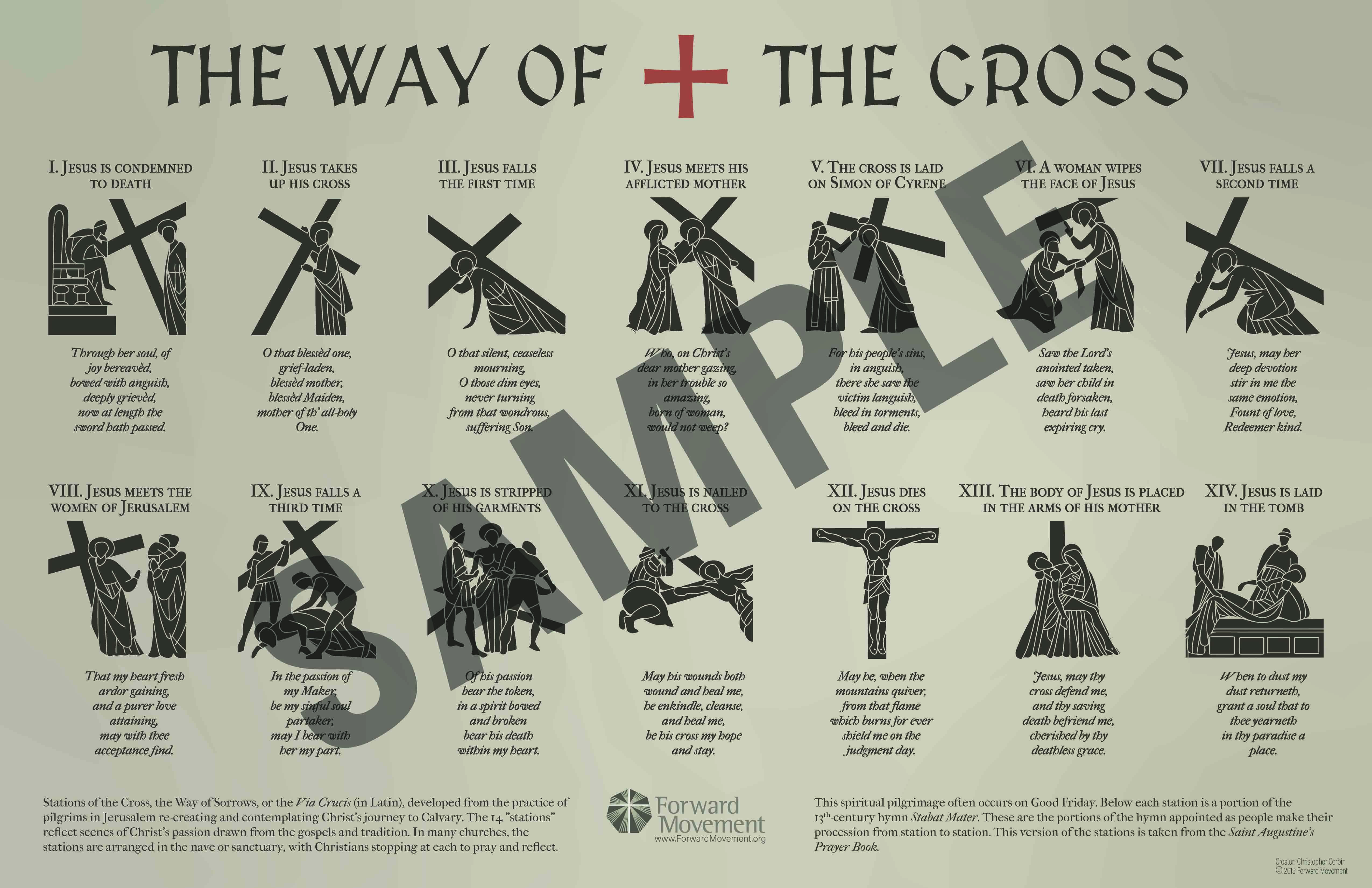 The Way of the Cross Infographic
