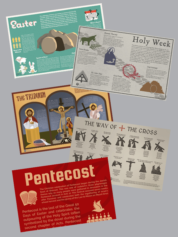 Easter & Holy Week Infographics - Discipleship Bundle