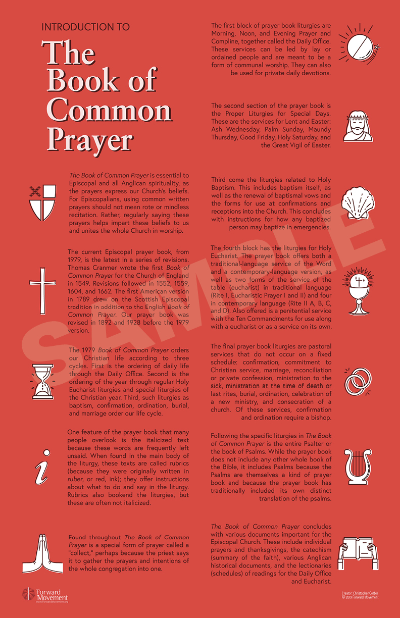 Intro to the Book of Common Prayer Infographic