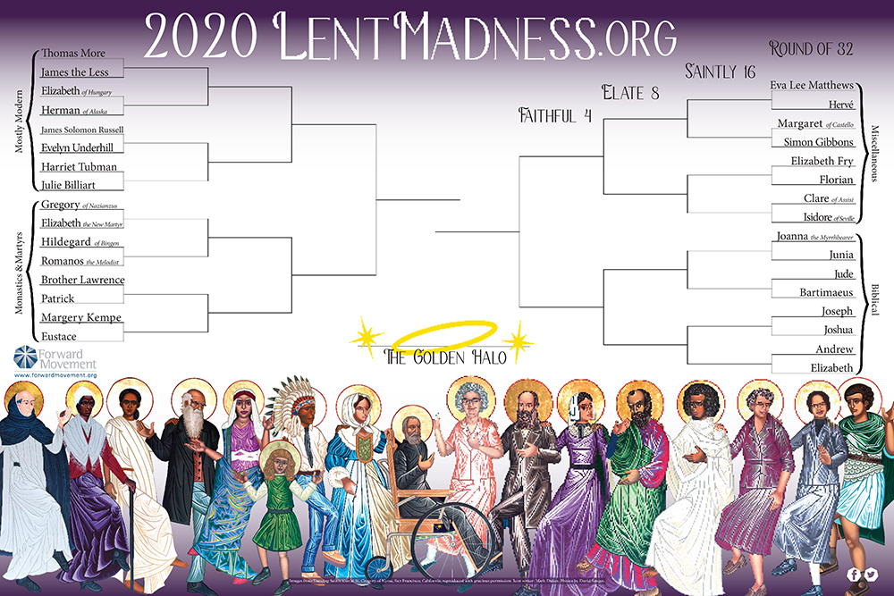 Lent Madness Bracket Poster 2020